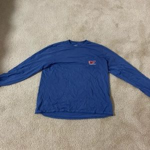 Vineyard Vines L/S Men's Blue Football T-shirt, XL
